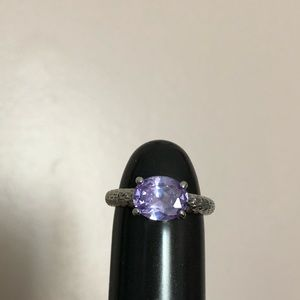 Jewelry - 💍 Diamond Candle Ring with purple stone